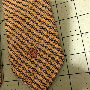 Versace Designer silk golden yellow tie